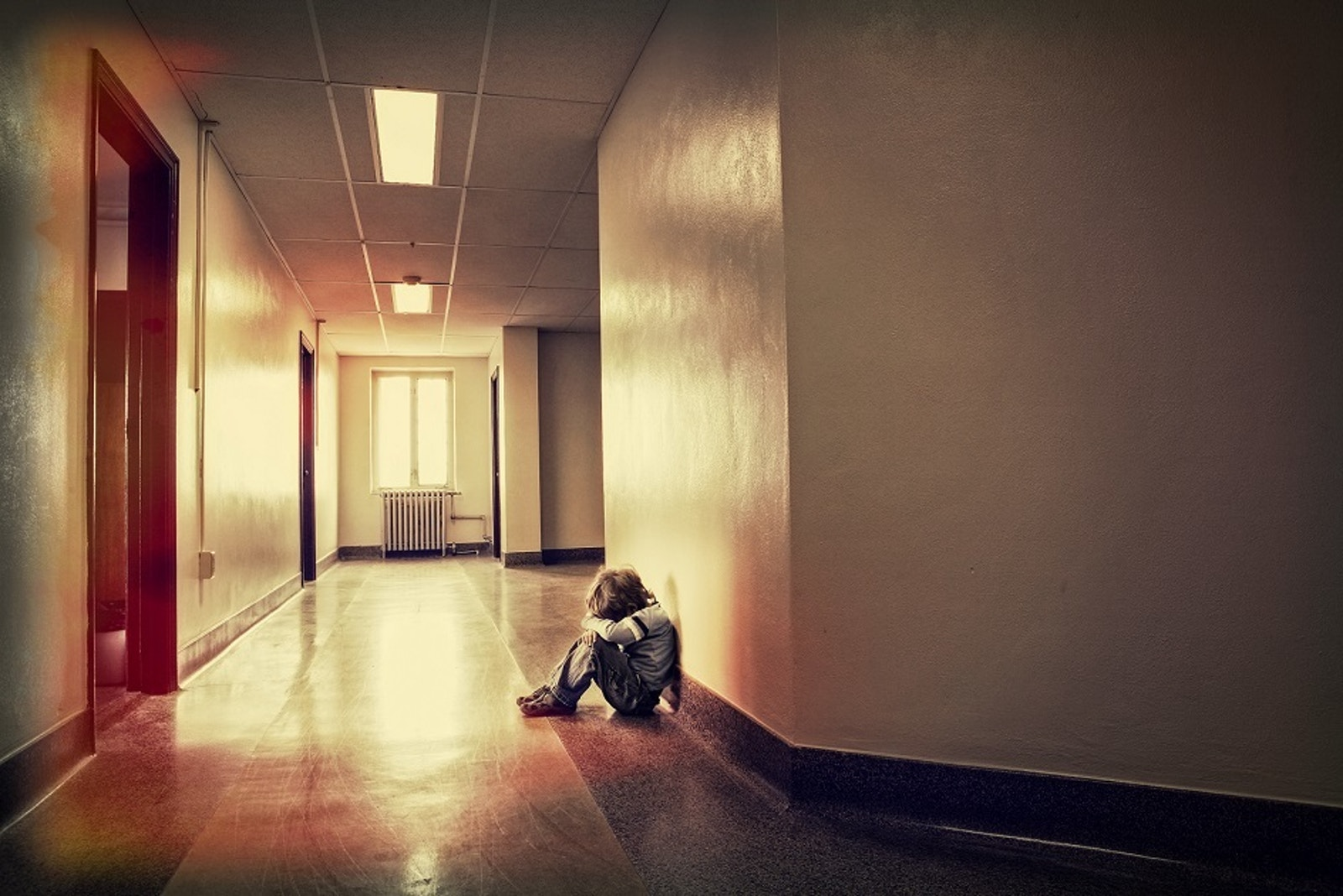 Child in hallway