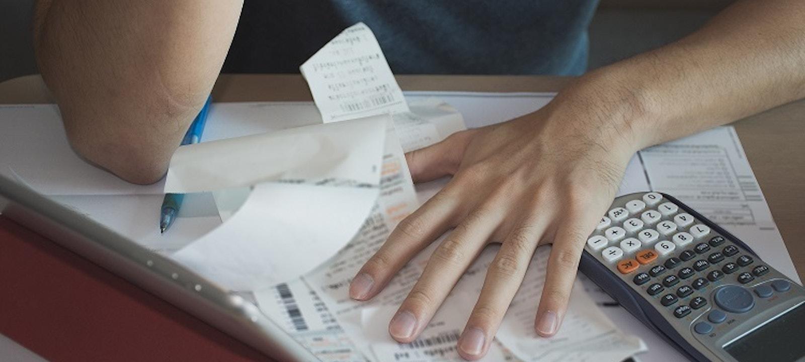 Debt stress from a financial emergency