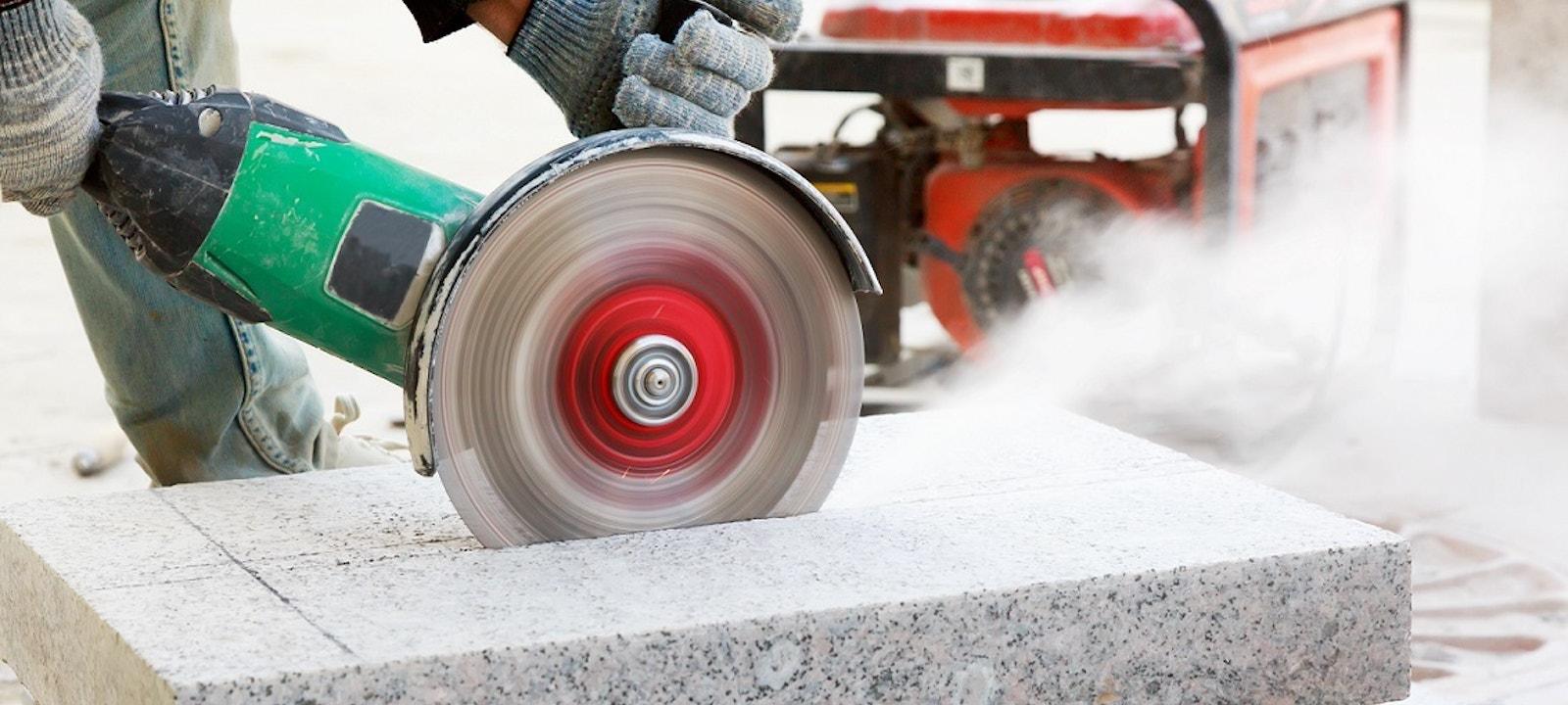 Silica cutting into engineered stone
