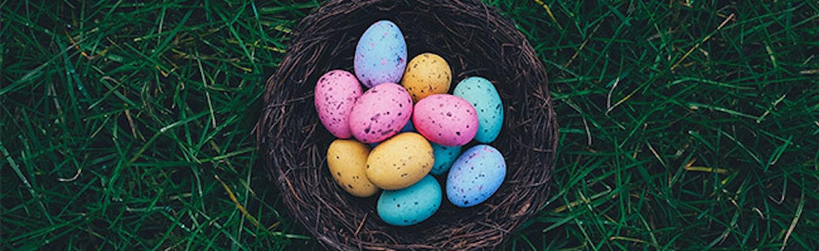 Easter Eggs In Basket Blog