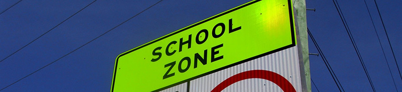 New Fluorescent School Zone Sign Blog