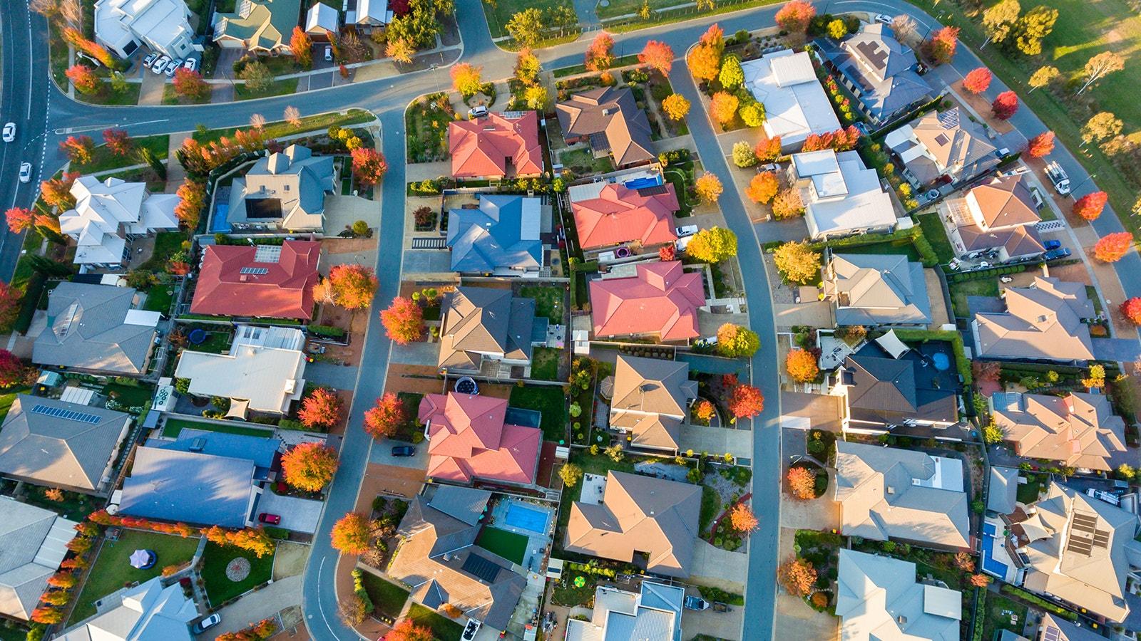 Suburban House Aerial View Resize