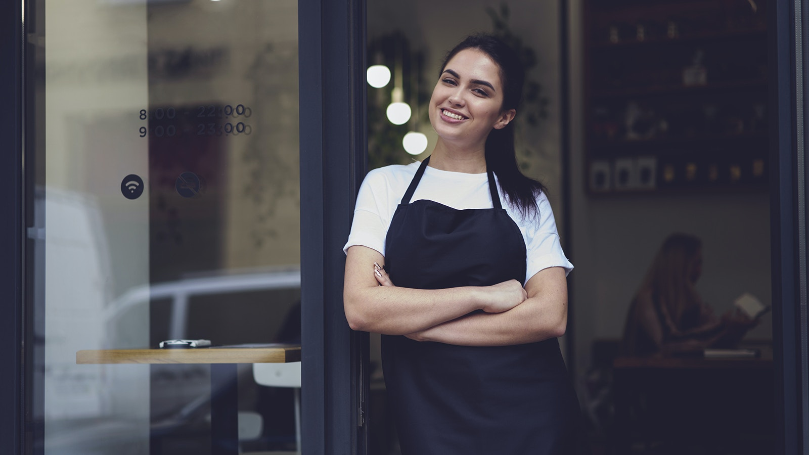 Waitress In Black Apron Upload