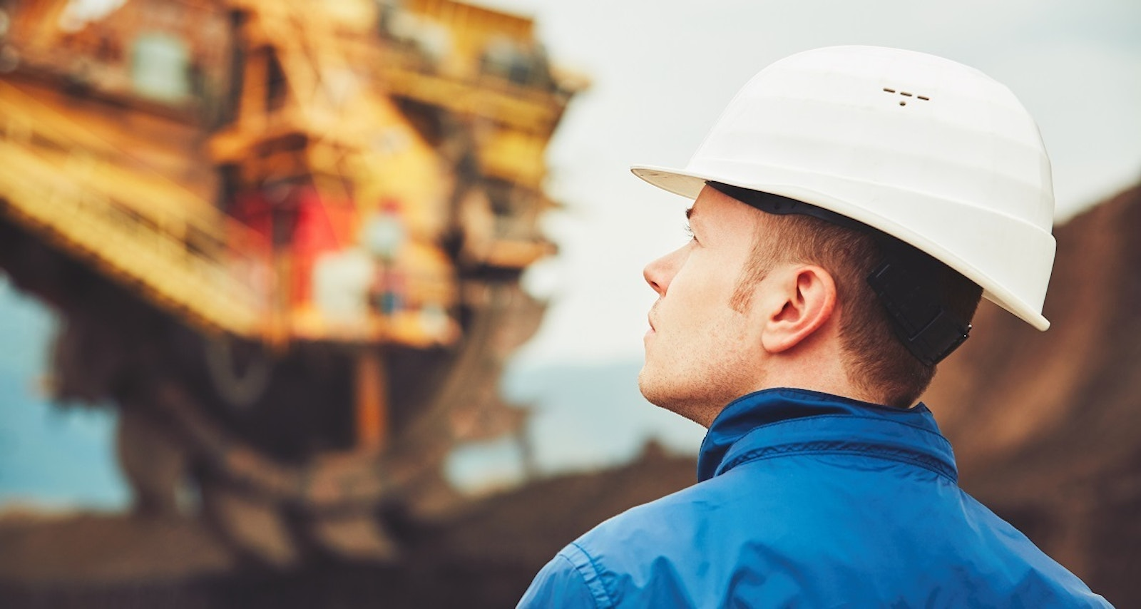 Young mine worker contemplating his superannuation